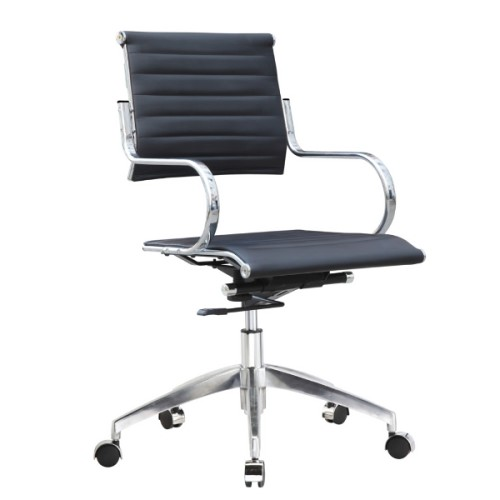 Flees Office Chair Mid Back, Black
