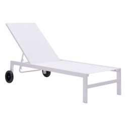 Castle Peak Chaise Lounge White