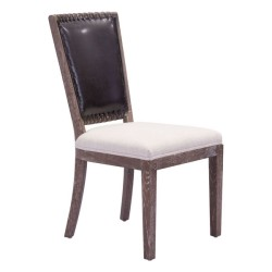 Market Dining Chair | Set of 2 -  Brown & Beige